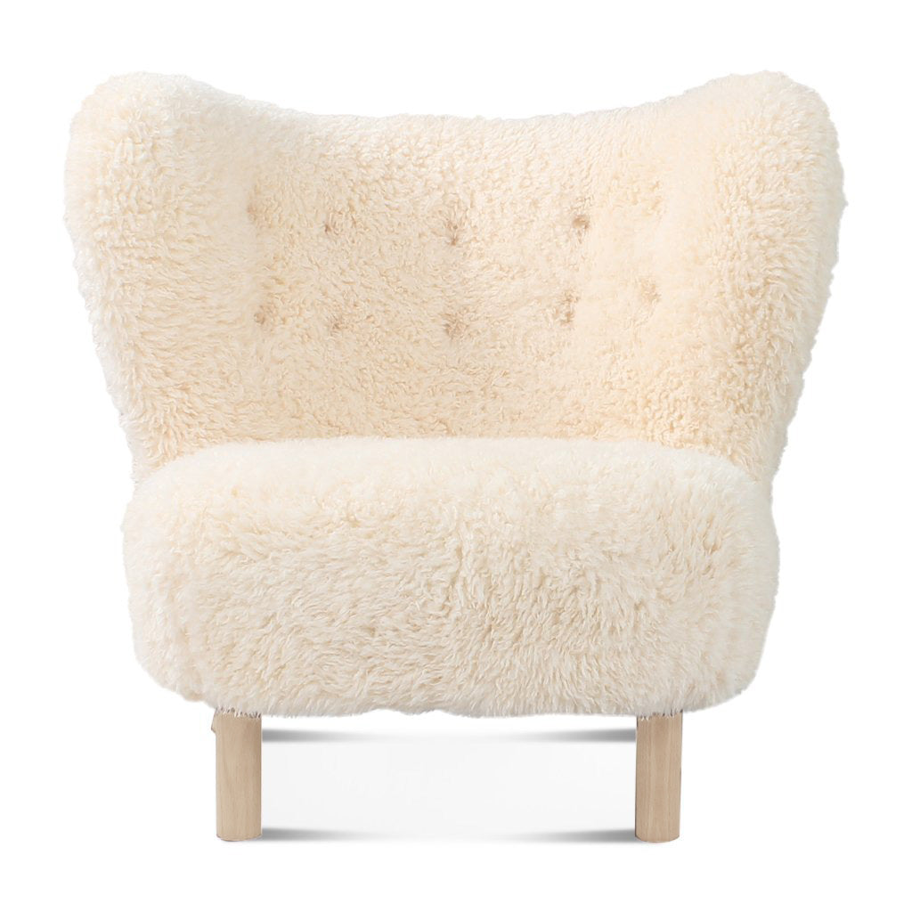 Little Petra Lounge Chair - Sheepskin-Long Hair / Natural Ash