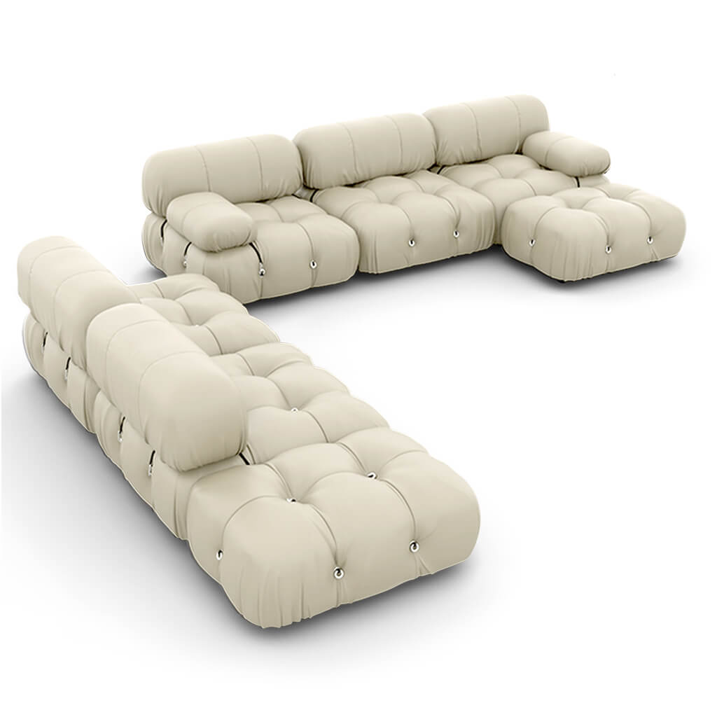 Mario Bellini  Camaleonda Sofa / Combination 007 - Aniline Leather-Bone