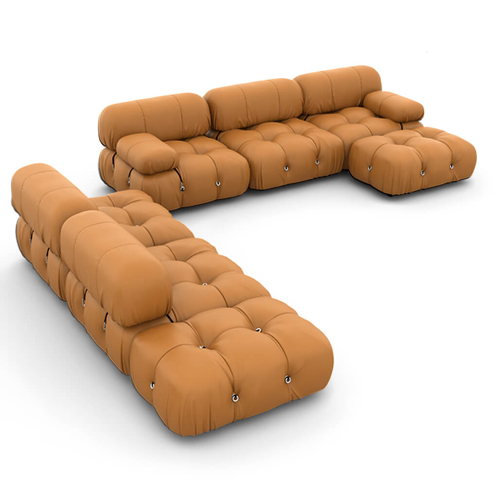 Mario Bellini  Camaleonda Sofa / Combination 007 - Aniline Leather-Camel