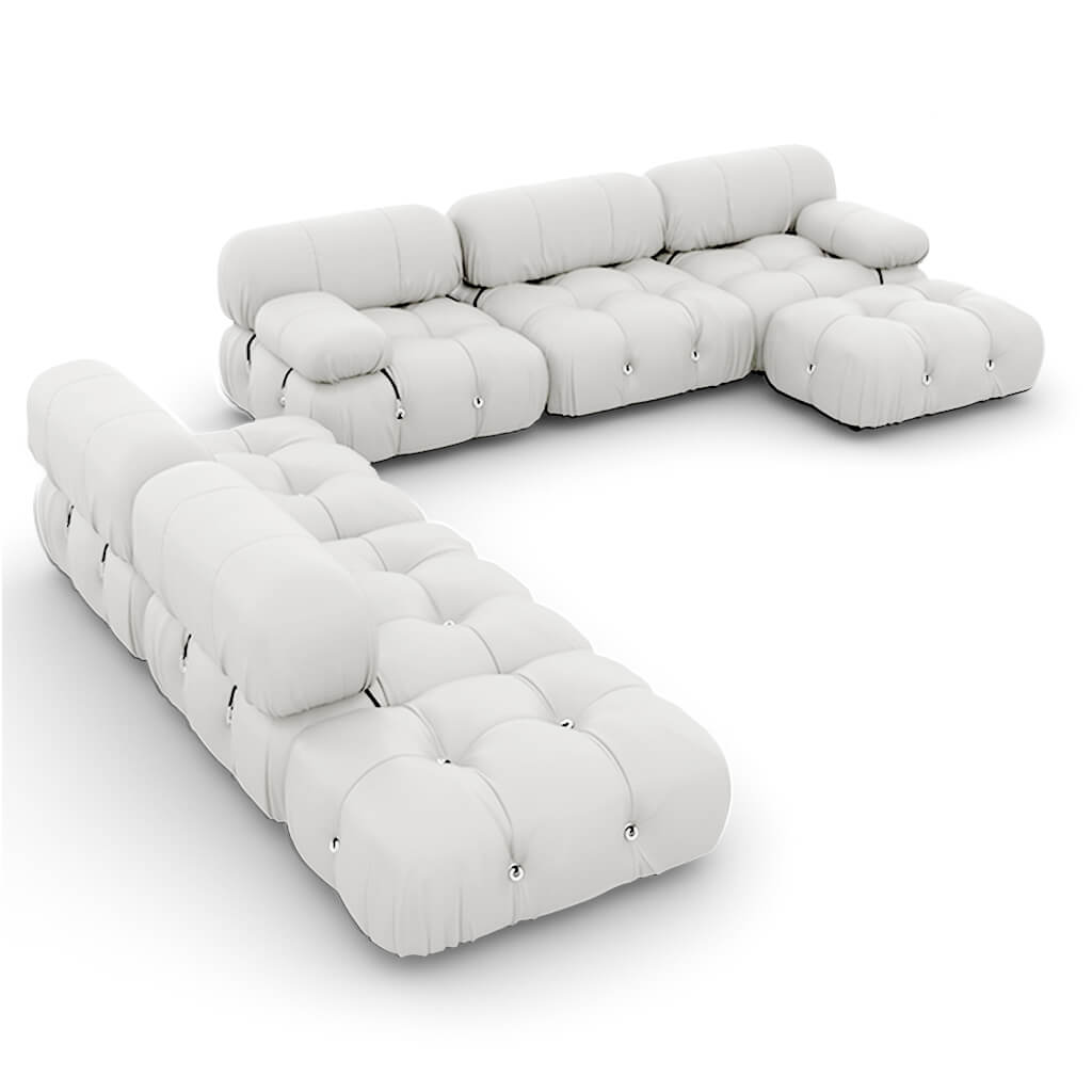 Mario Bellini  Camaleonda Sofa / Combination 007 - Aniline Leather-White