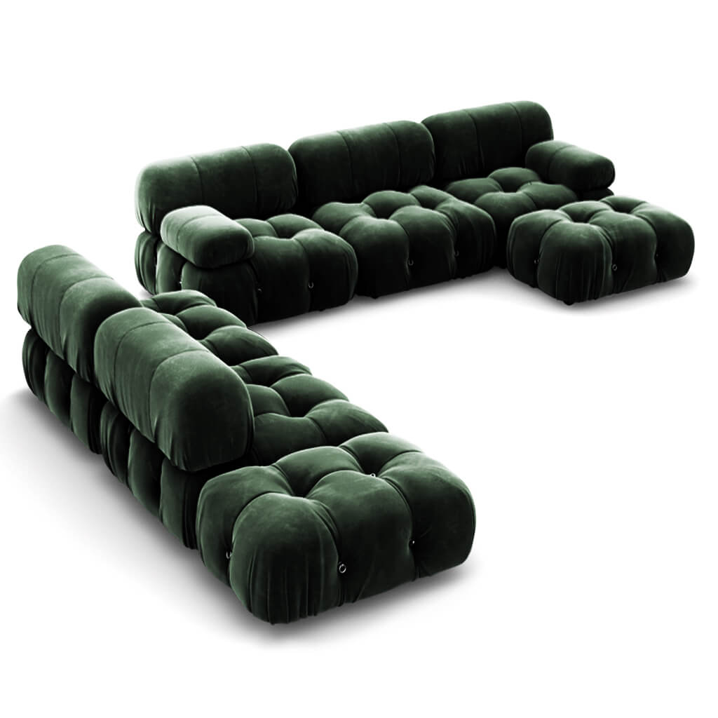 Mario Bellini  Camaleonda Sofa / Combination 007 - Chenille Helios-Evergreen
