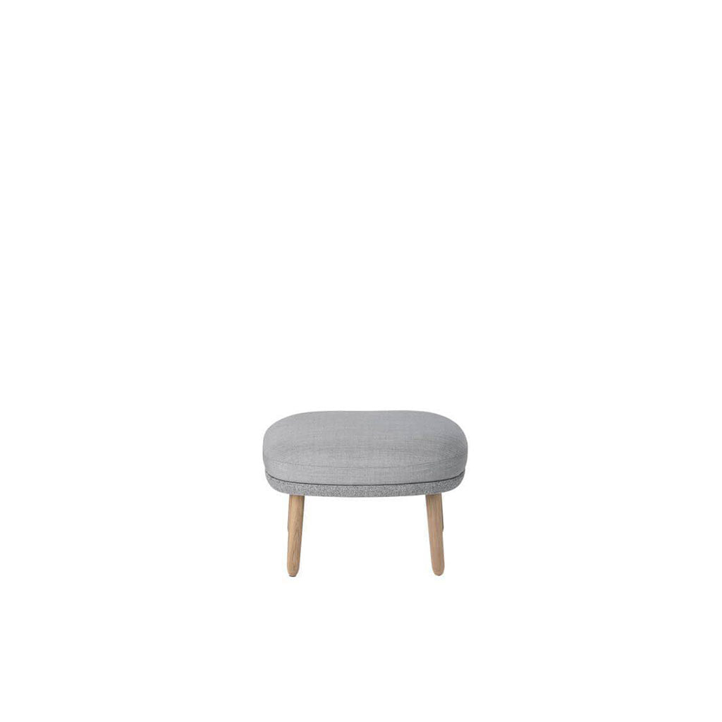 Ro Footstool - Cashmere-Blue Grey / Black Stain