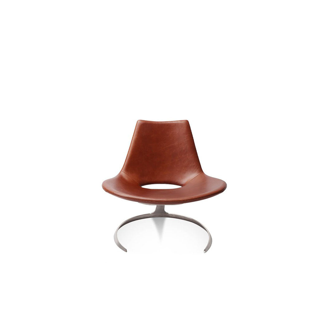 Scimitar Chair - Aniline Leather-White