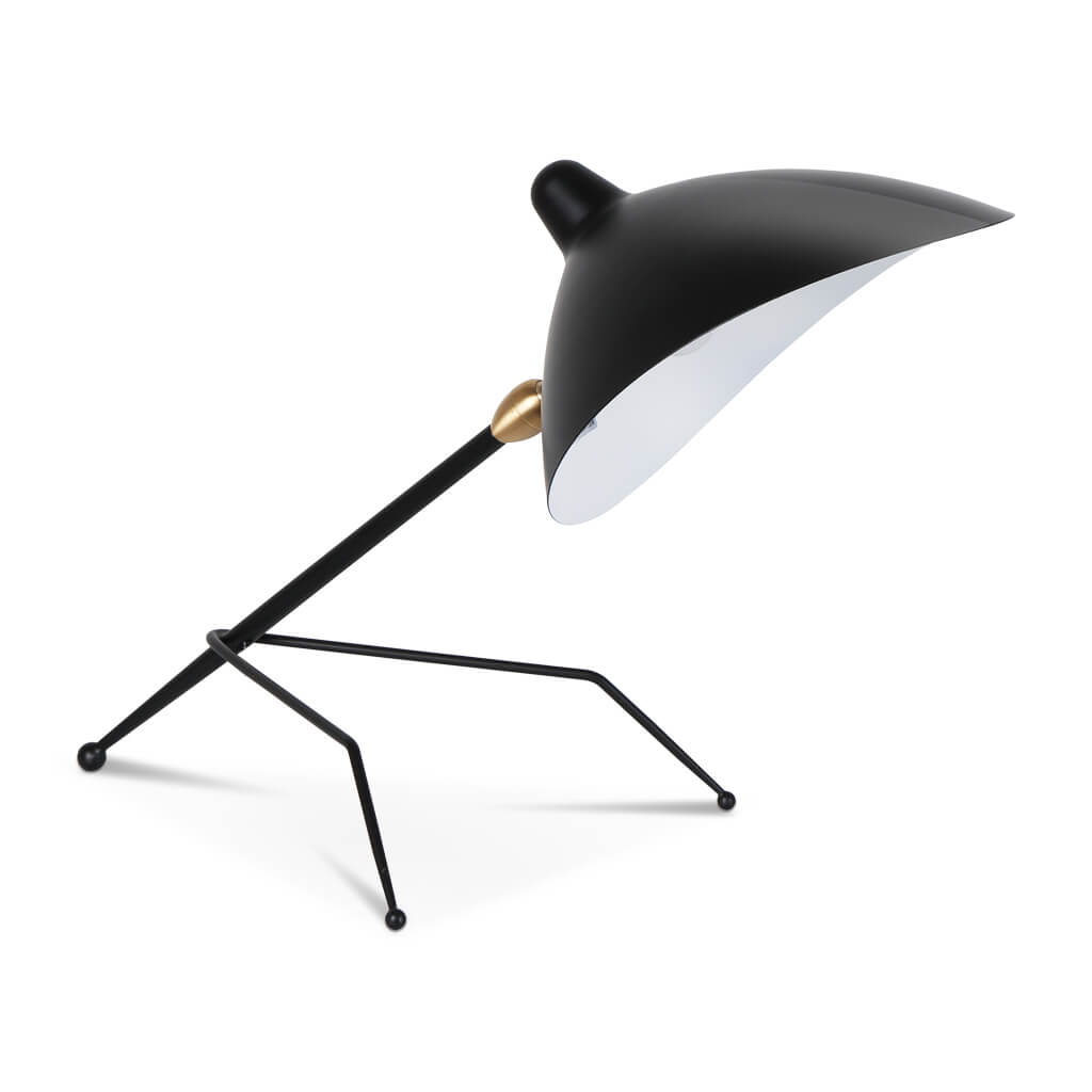 Serge Mouille Tripod Desk Lamp - Black