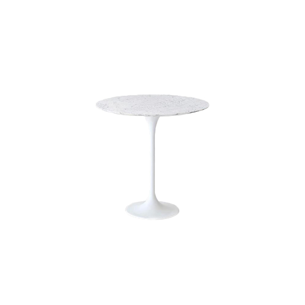 White Carrara Tulip Side Table