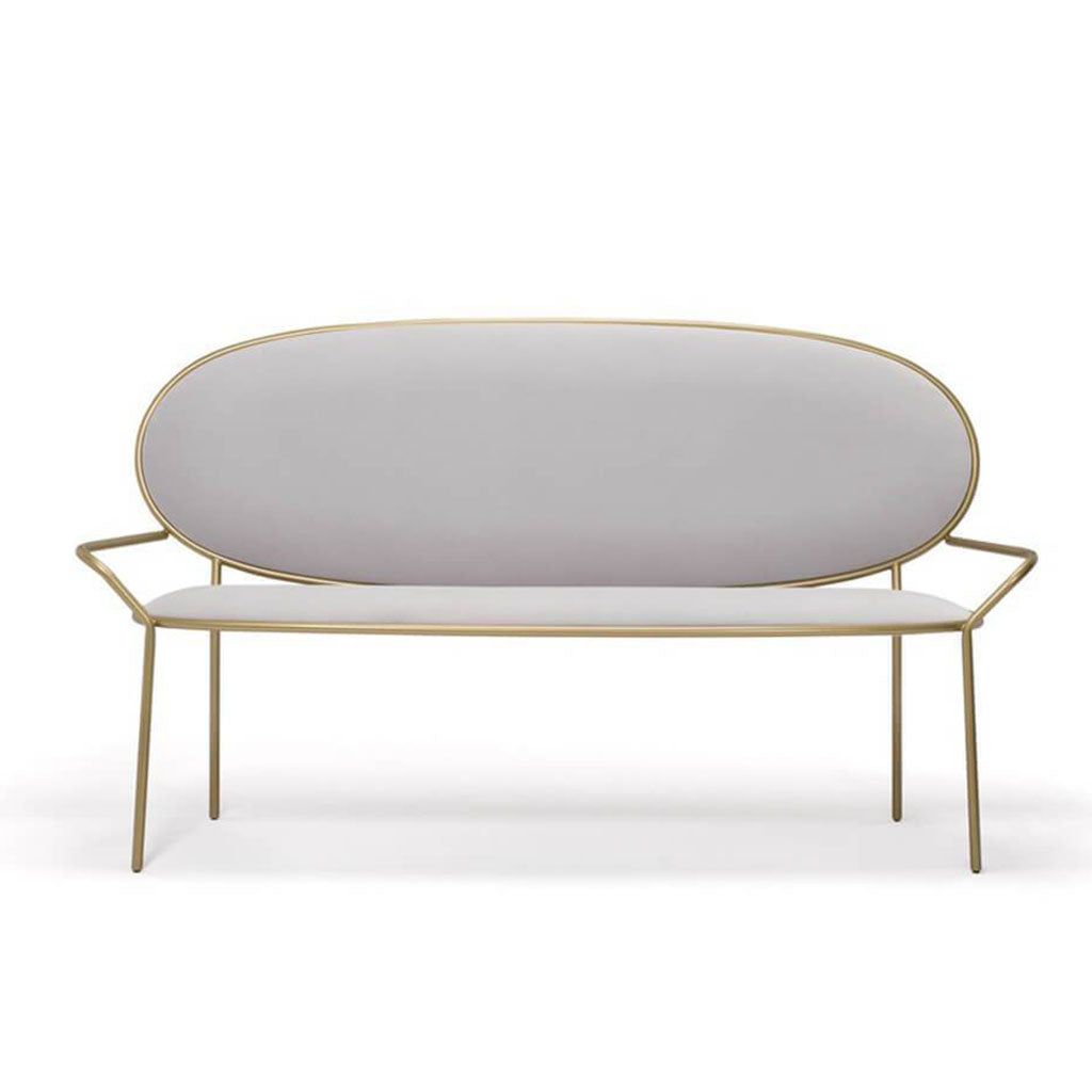 Stay Bench With Armrests - Mid Century Modern