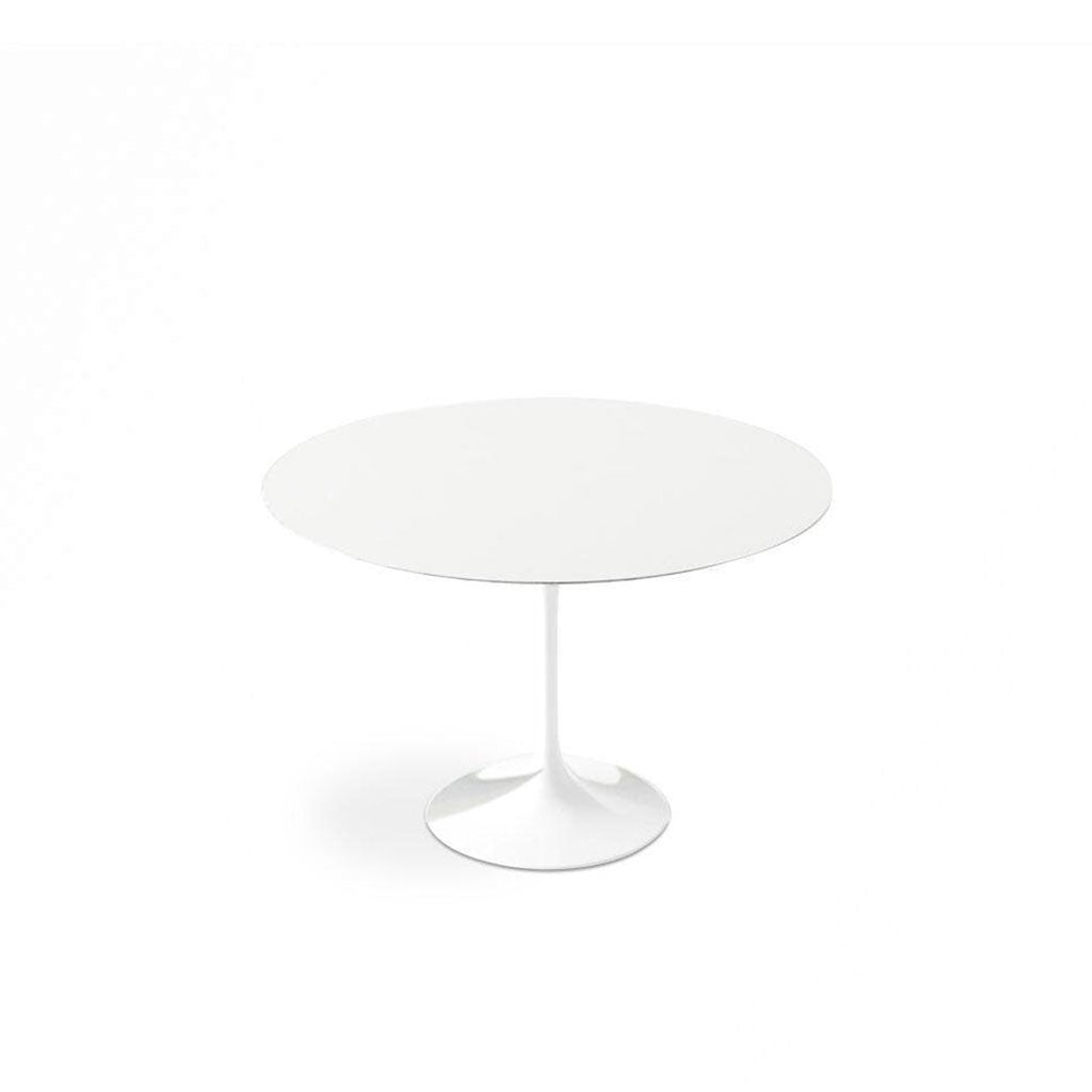 White Lacquer Tulip Dining Table - Round