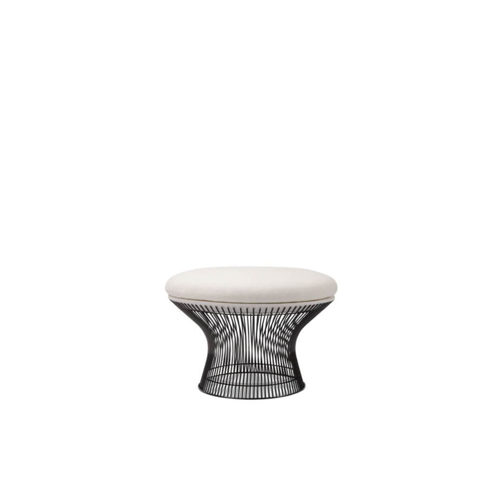 Warren Platner Easy Ottoman - Gun Metal Black Base