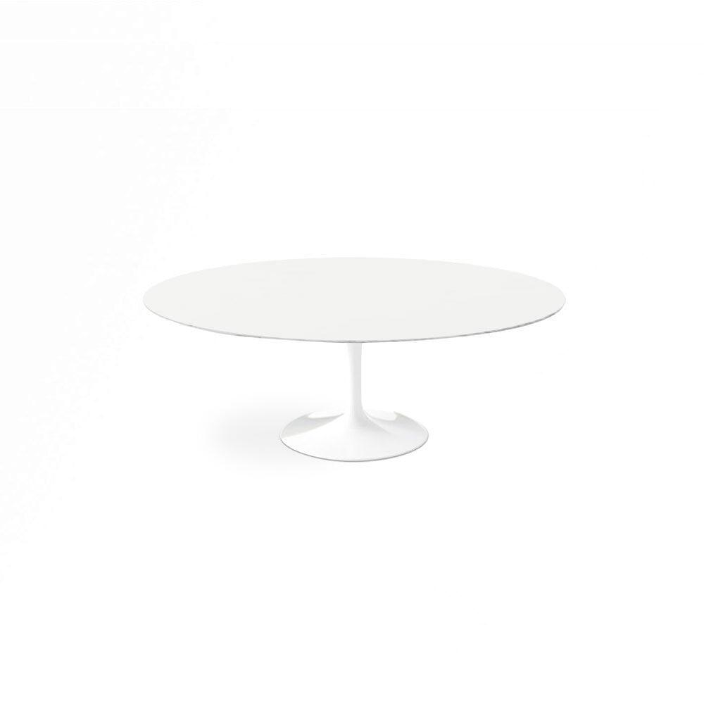 White Lacquer Dining Table Oval pic