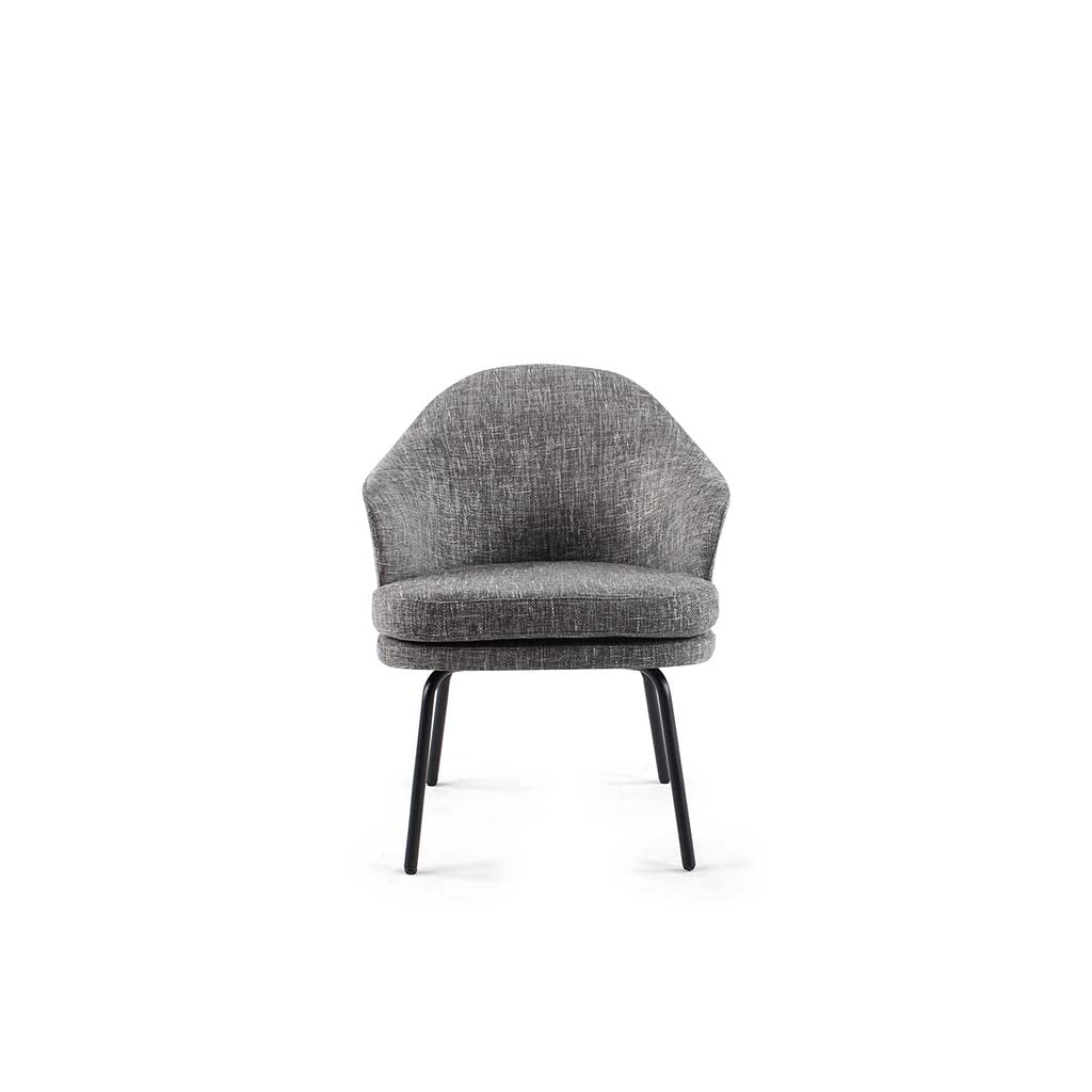 Angie Dining Chair - Boucle Wool-Charcoal Grey