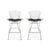 Set of Two Bertoia Bar Stools