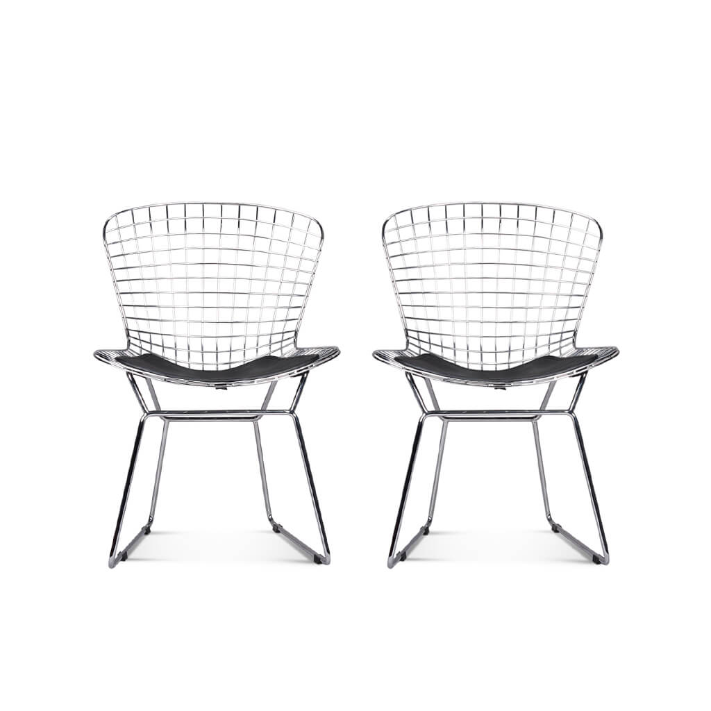 Set of Two Bertoia Side Chairs - Mid Century Modern