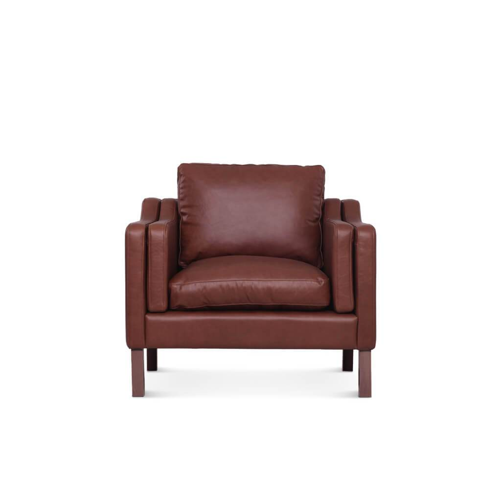 Borge Mogensen  2211 Armchair - Aniline-Dark Brown / Natural Ash
