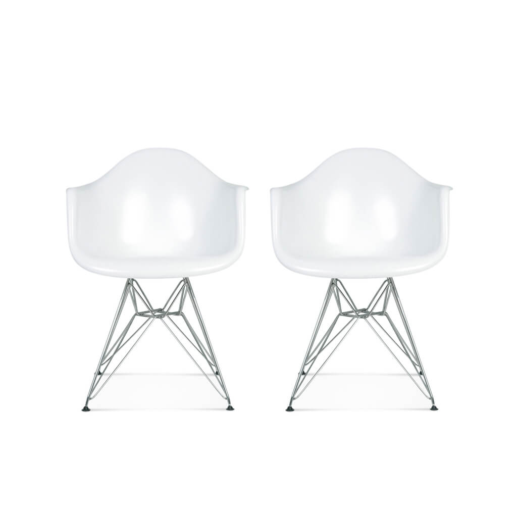 Set of Two DAR Molded Plastic Armchair - EternityModern