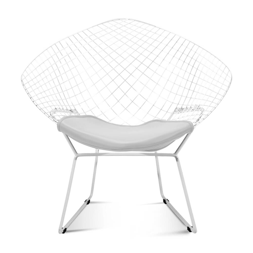 Harry Bertoia Diamond Chair - White