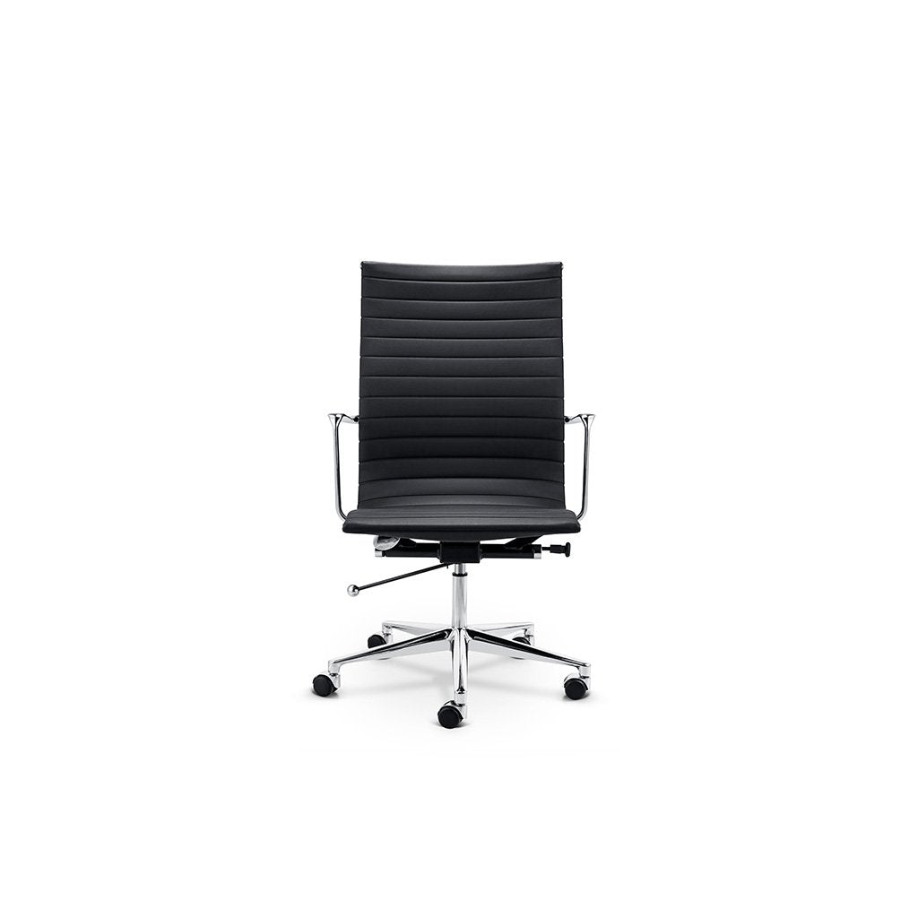 EM Office Chair Highback - Thinpad - Top Grain Forte-Red