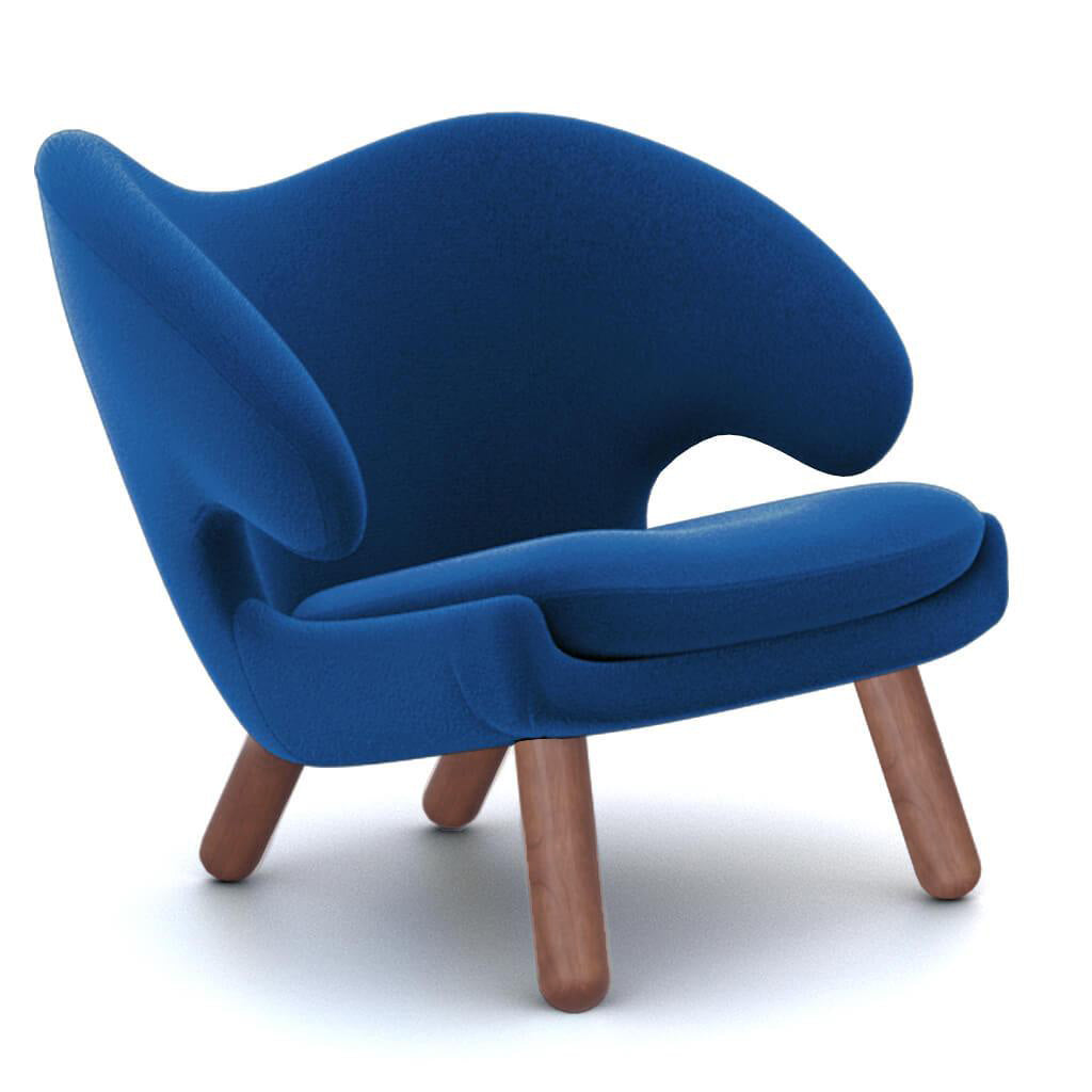 Chair Blue Walnut foto