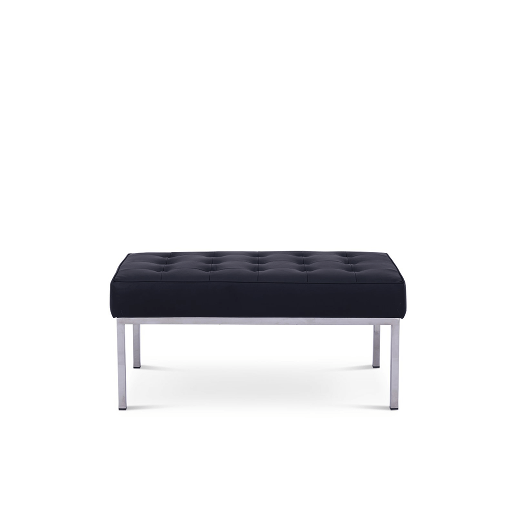 Florence Schust Florence Bench 2 Seaters - Boucle Wool-Charcoal Grey