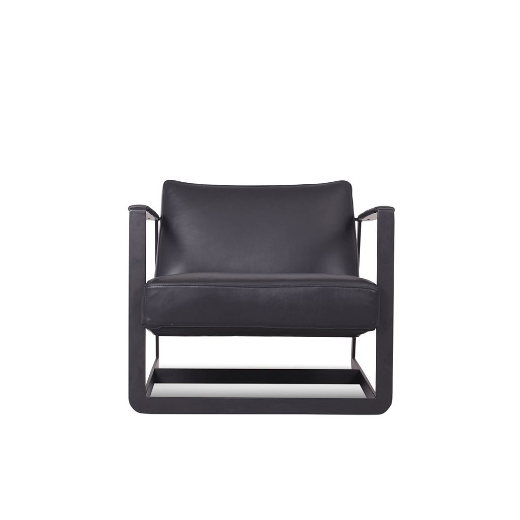 Vincent Van Duysen Gaston Chair - Boucle Wool-Charcoal Grey / Chrome Steel