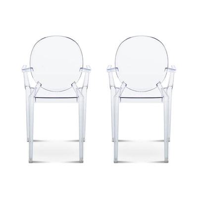 Set of Two Ghost Armchair Louis - EternityModern