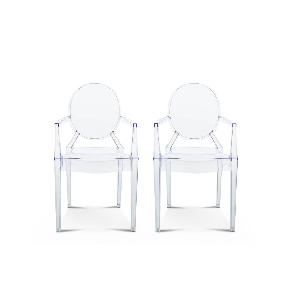 Philippe Starck Set of Two Ghost Armchair Louis - Mid Century Modern