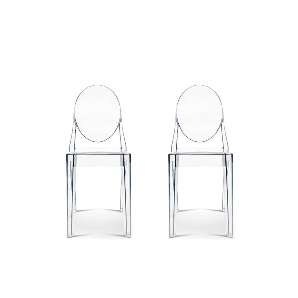 Philippe Starck Set of Two Ghost Side Chair Victoria - Mid Century Modern