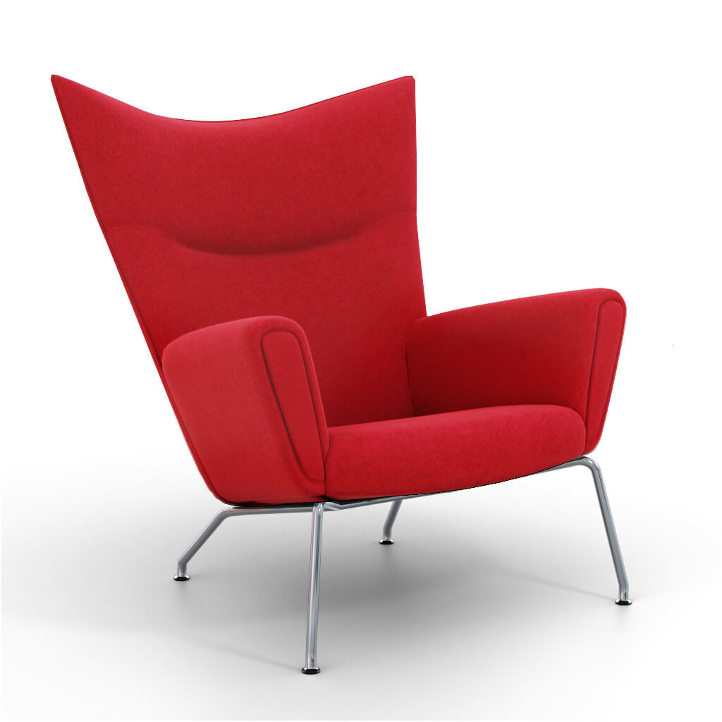 Wing Chair Red foto