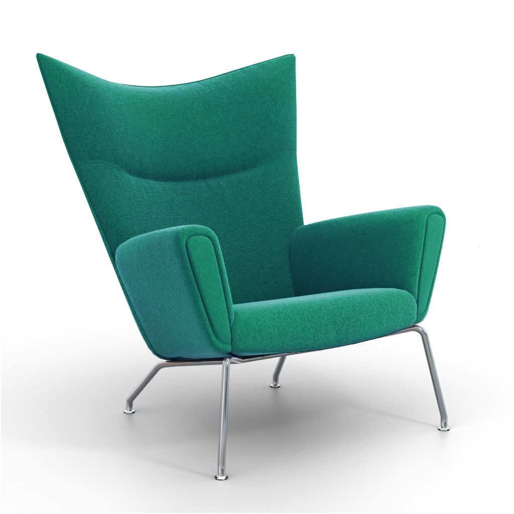 Wing Chair Pine Green foto