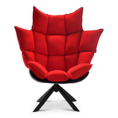 Husk Chair High Back - Wood Base - EternityModern
