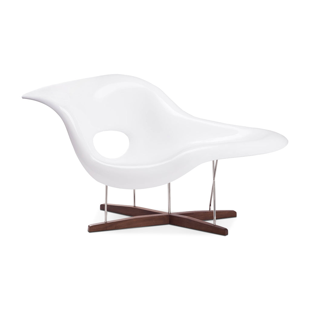 Eternity Modern La Chaise Chair - Walnut Stain