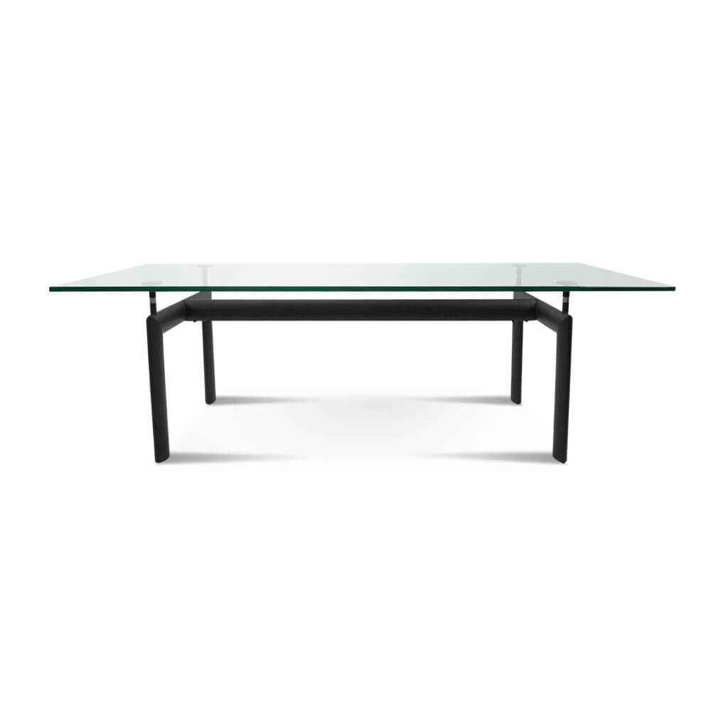 Le Corbusier LC6 Dining Table - 6ft Long / Black Powder-Coated