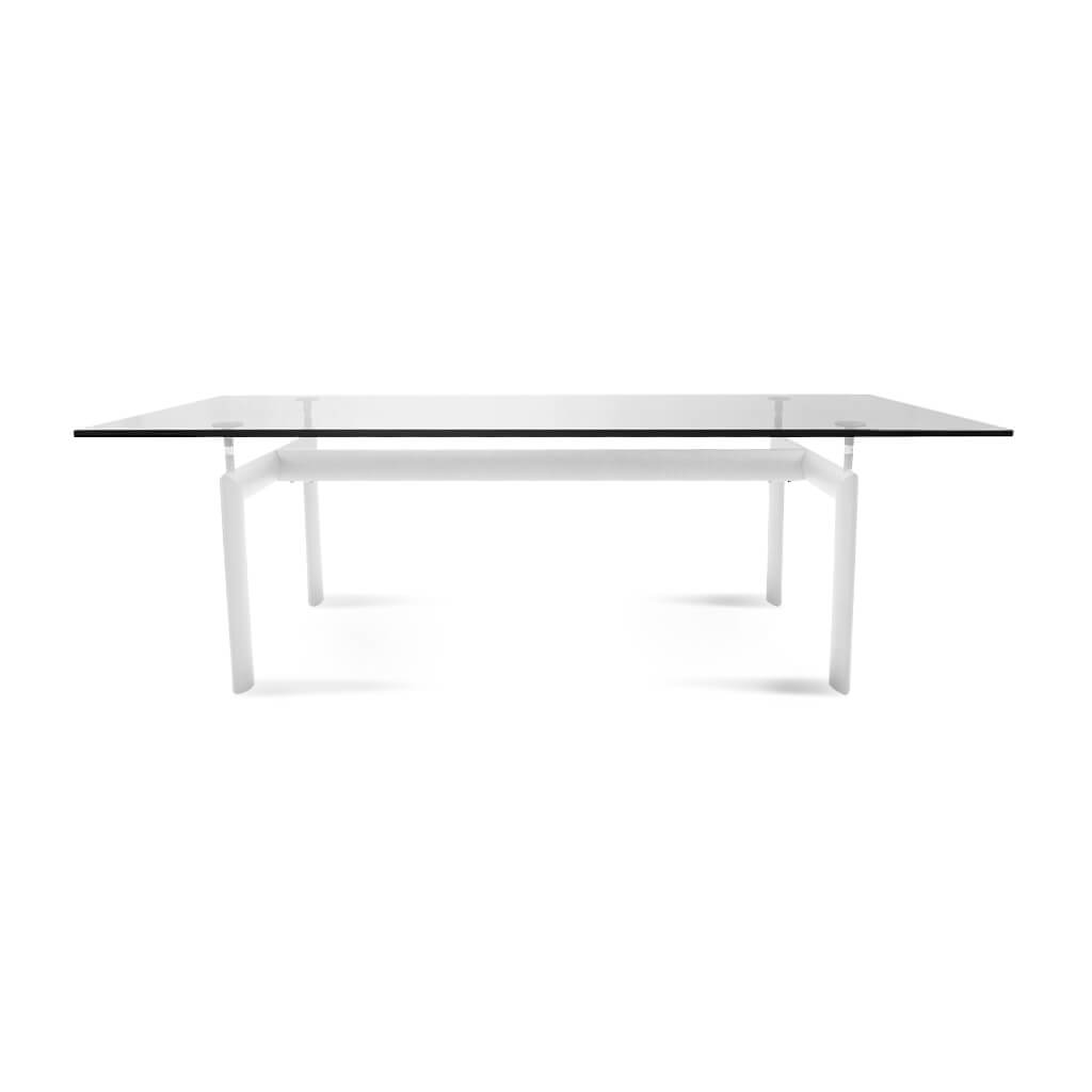 Le Corbusier LC6 Dining Table - 6ft Long / White Powder-Coated