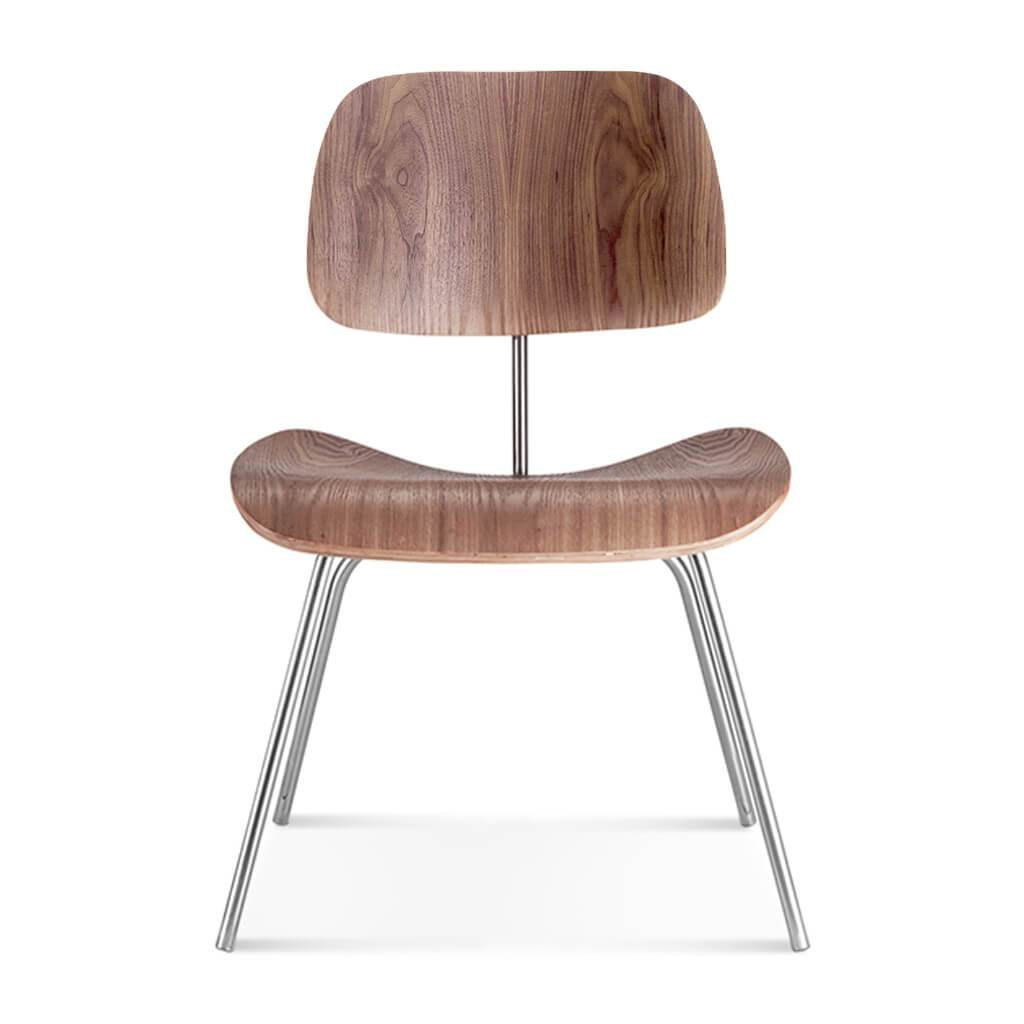 Eternity Modern Molded Plywood Dining Chair (dcm) - American Walnut Veneer