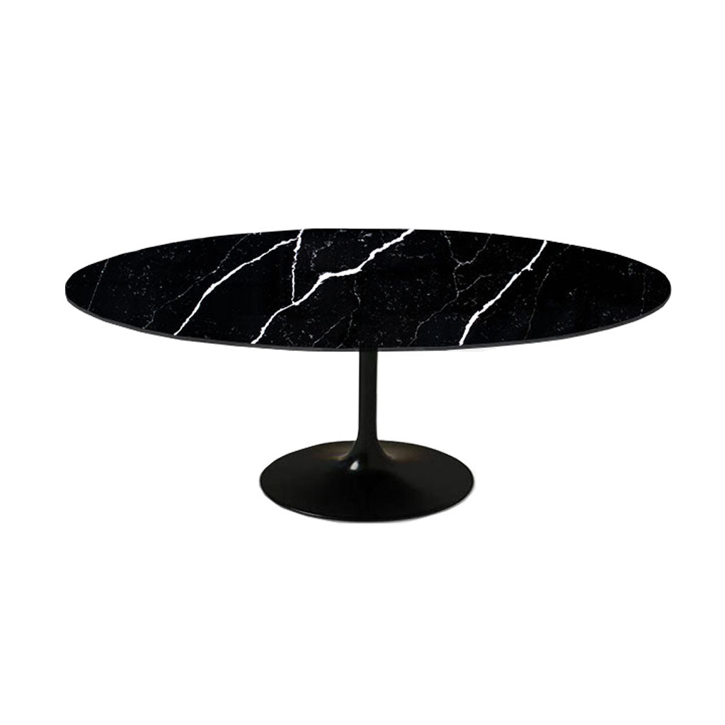 Black Calacatta Quartz | Tulip Dining Table - Oval
