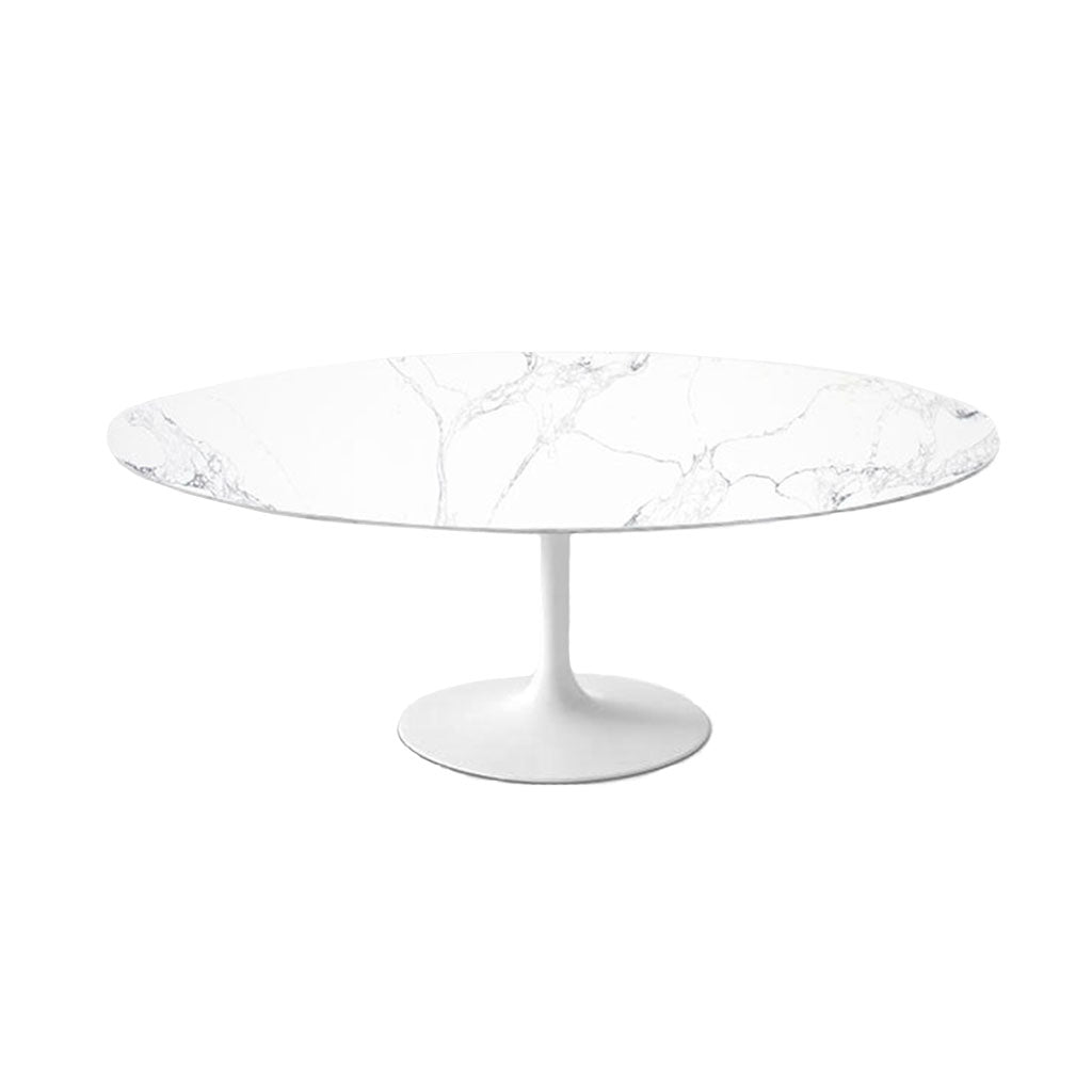 Statuario Venato Calacatta Quartz<sup>&copy;</sup> Tulip Dining Table - Oval
