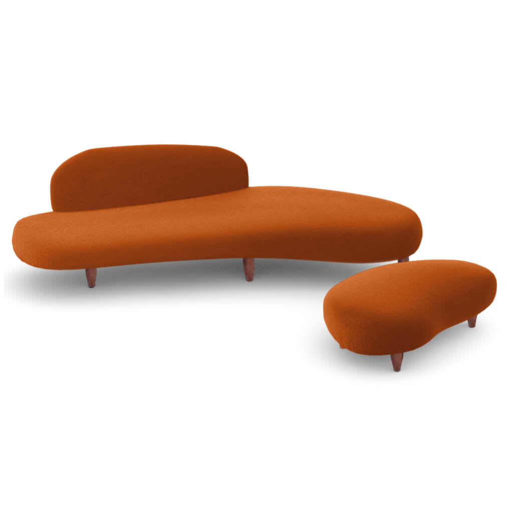Sofa Ottoman Wool Copper Large foto