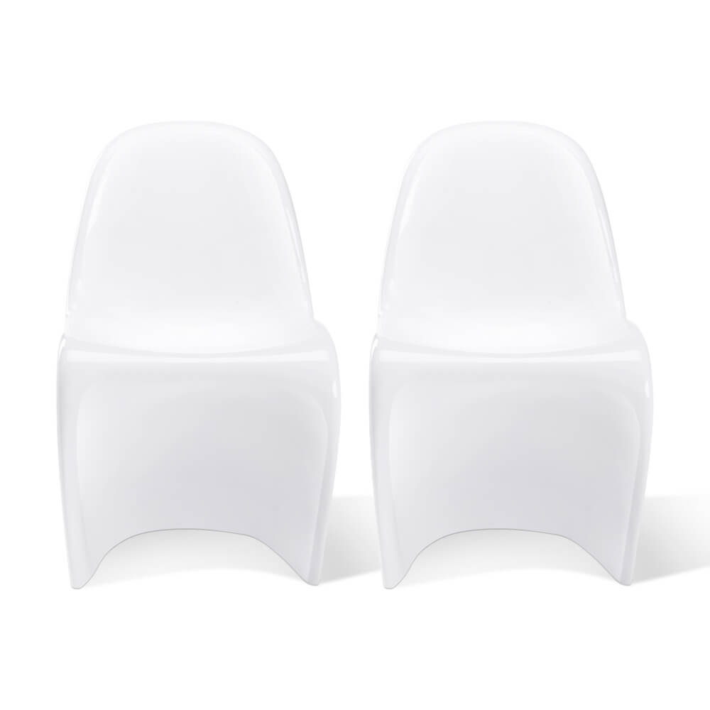 Set of Two Fiberglass Classic Panton Chair