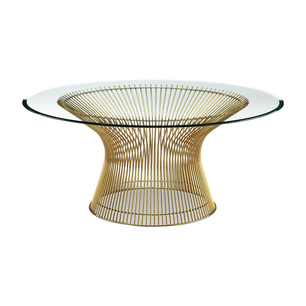 """Platner Coffee Table - 36"""" - Gold"""