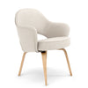 Saarinen Executive Leather Armchair - Wood Legs
