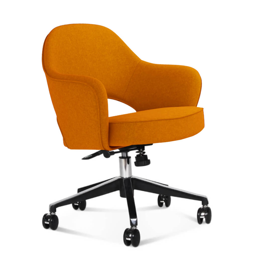 Saarinen Executive Armchair with Casters - Boucle Wool-Copper