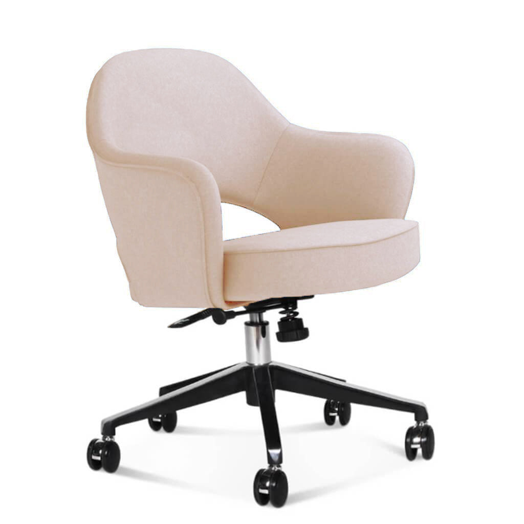 Saarinen Executive Armchair with Casters - Cashmere-Cape Sands