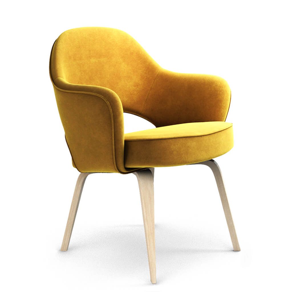 Armchair Wood Yellow Ash foto