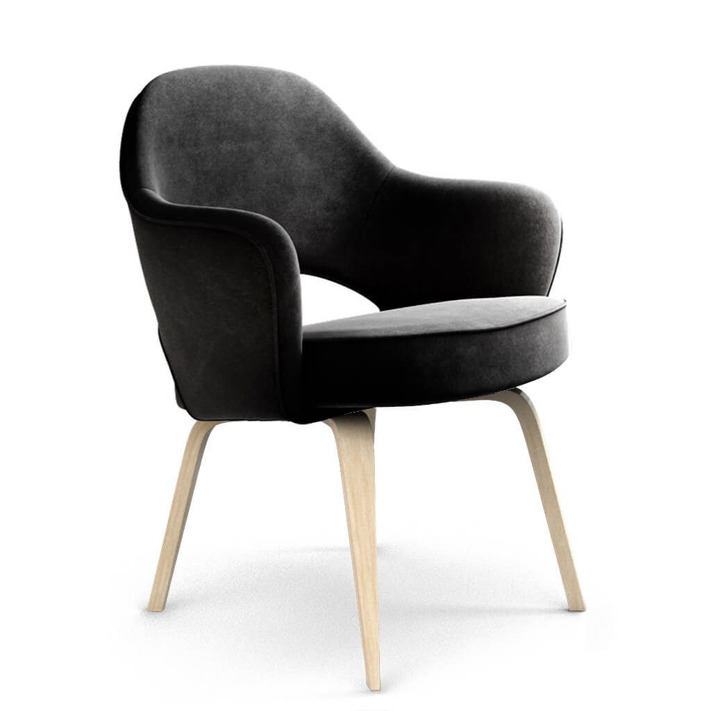 Armchair Wood Jet Black Ash foto
