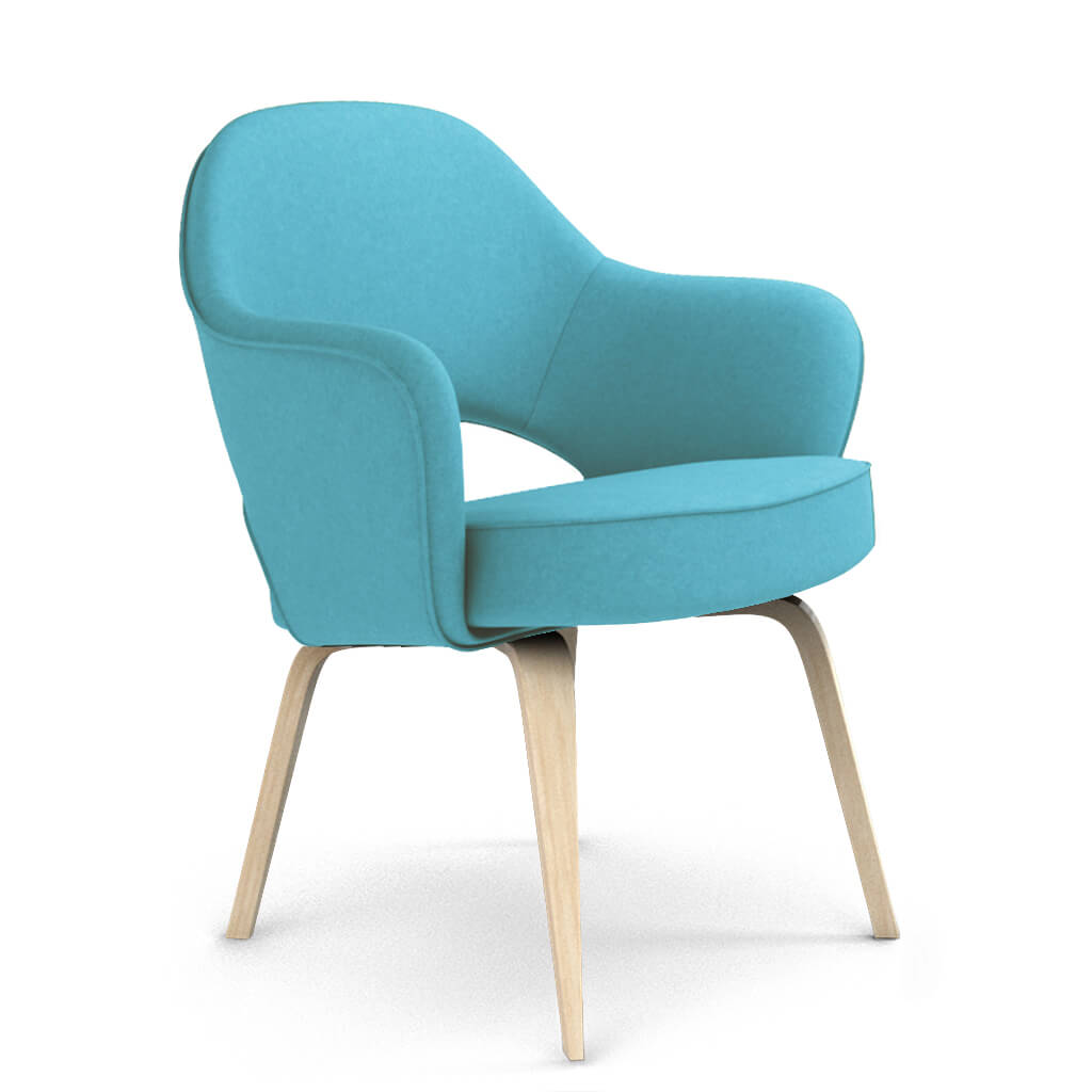 Armchair Wood Blue Ash foto