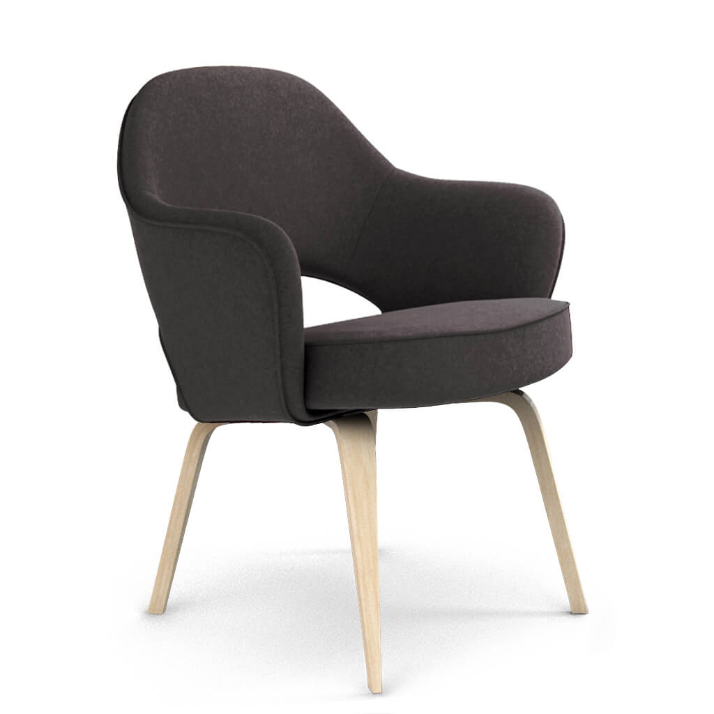 Armchair Wood Wool Grey Ash foto
