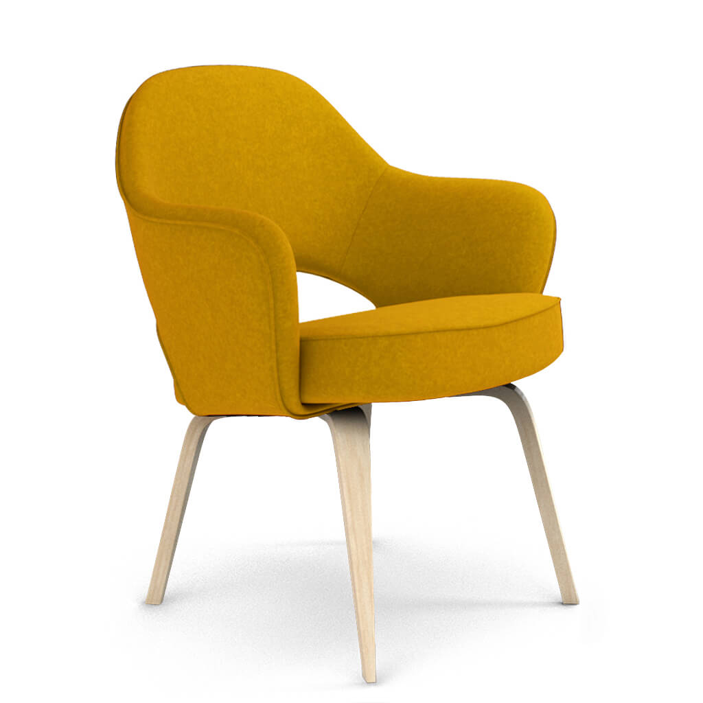 Armchair Wood Wool Yellow Ash foto