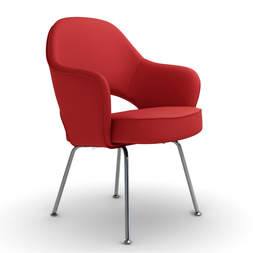 Armchair Steel Red foto