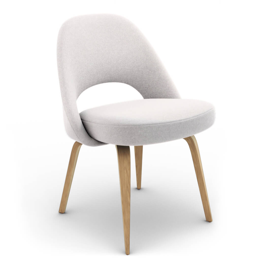 Side Chair Wood White Ash