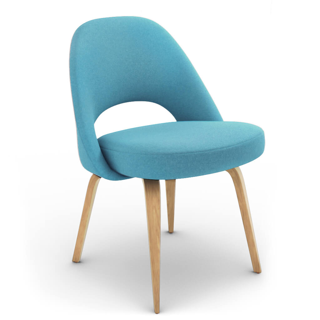 Side Chair Wood Blue Ash