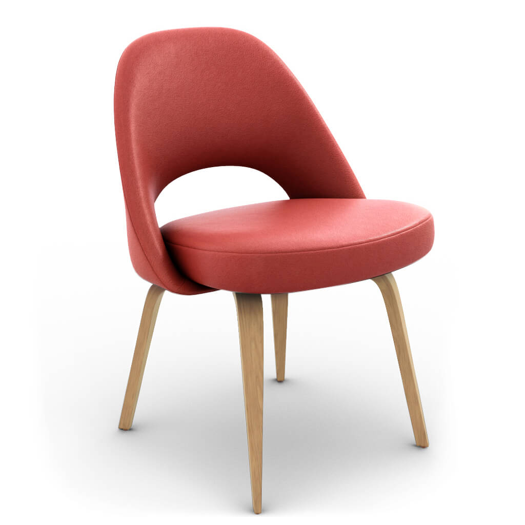 Side Chair Wood Red Ash